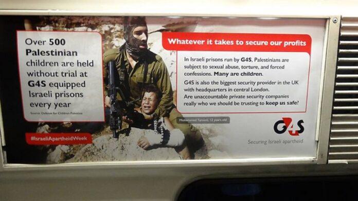 Publicidad anti-israelí cubre los subtes de Londres