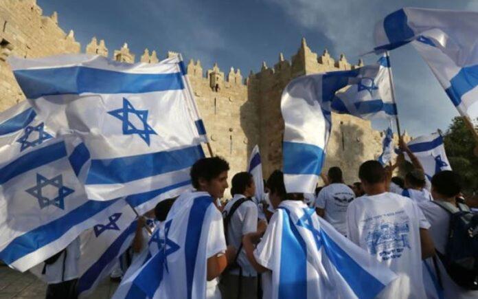 Israel celebra la unificación de Jerusalén con una marcha con banderas