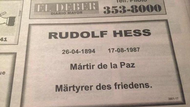 Publicación antisemita en un diario de Bolivia