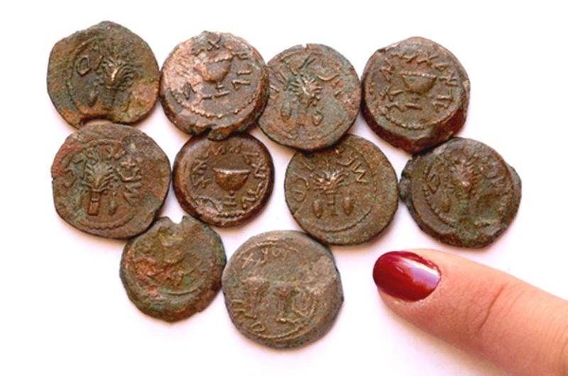 monedas encontradas en Jerusalén