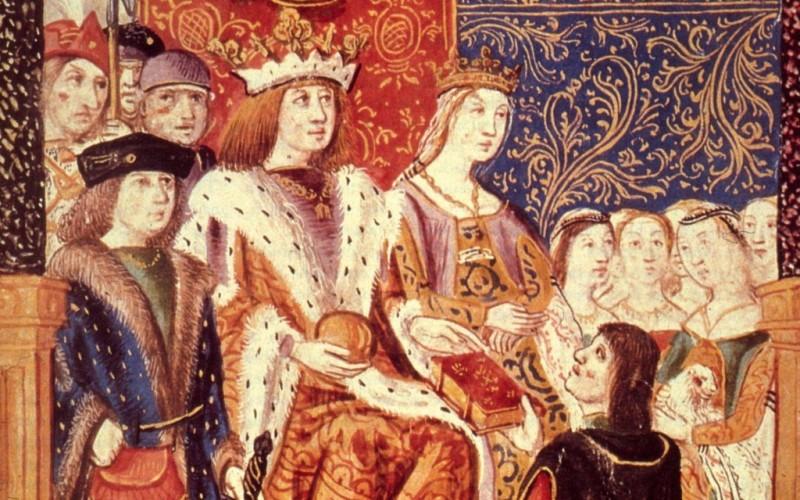 Fernando e Isabel de España en aproximadamente 1469, el año de su matrimonio.