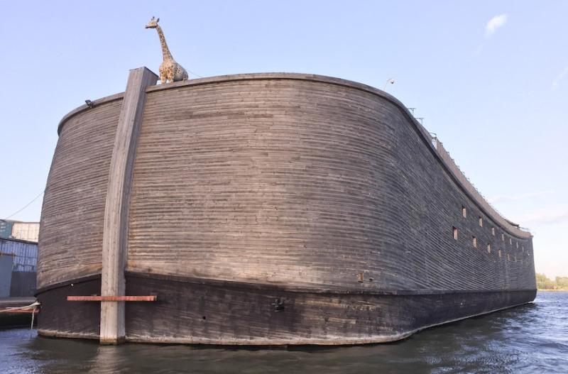 Este navegante cristiano holandés quiere navegar su réplica a tamaño natural del Arca de Noé a Israel 1