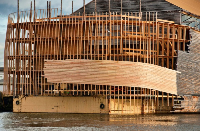 Este navegante cristiano holandés quiere navegar su réplica a tamaño natural del Arca de Noé a Israel