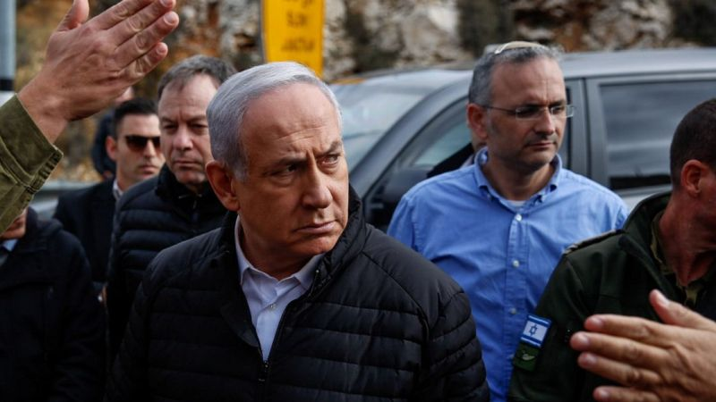 Netanyahu recorre el sitio del ataque terrorista