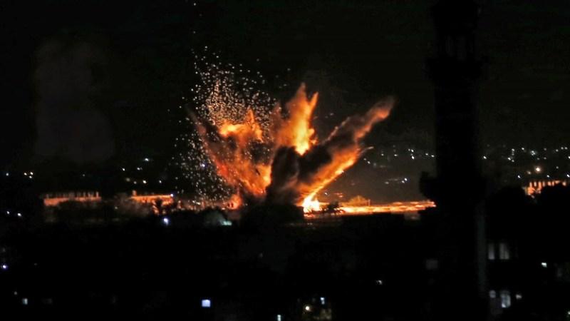 ataques aéreos a los objetivos de Gaza