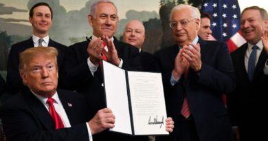 Trump firmó el reconocimiento histórico de la soberanía israelí sobre los Altos del Golán