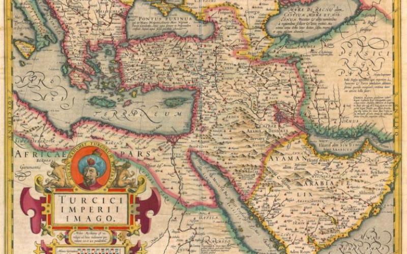 Mapa antiguo del Imperio Otomano
