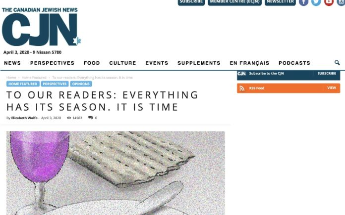 periódico judío de Canadá