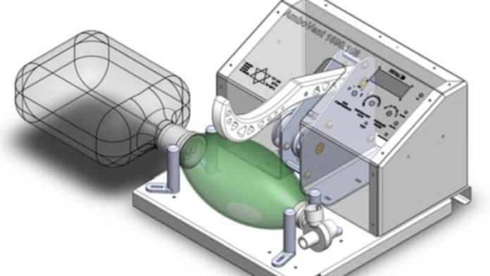 El equipo israelí diseña el sistema de ventilación de emergencia en 10 días