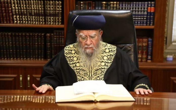 El ex rabino jefe Eliyahu Bakshi Doron muere de Coronavirus
