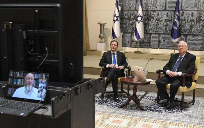 El presidente Rivlin habla con líderes judíos de todo el mundo