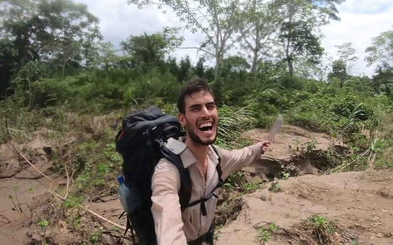 Ohad Navon, 26 años, en la Amazonía boliviana