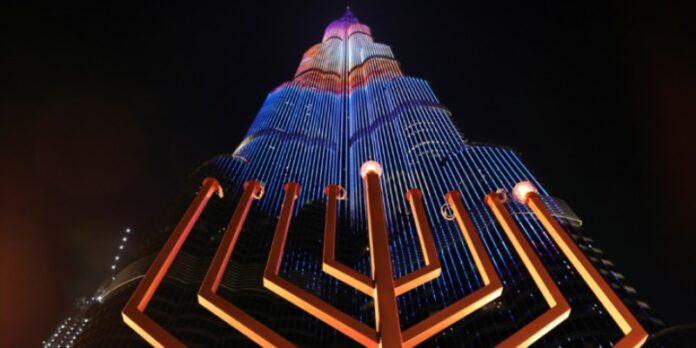 Celebración pública de Janucá en Emiratos Árabes Unidos