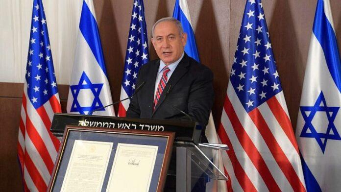 Netanyahu agradece a Trump en el tercer aniversario del reconocimiento estadounidense de Jerusalén