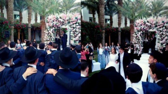 Primera boda pública judía en los Emiratos Árabes Unidos atrae espectadores curiosos