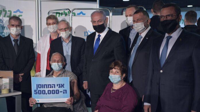 Israel es líder mundial en campañas de vacunación, supera el hito de medio millón