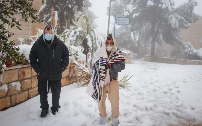 Jerusalén se encuentra cubierta de nieve, así también gran parte de Israel