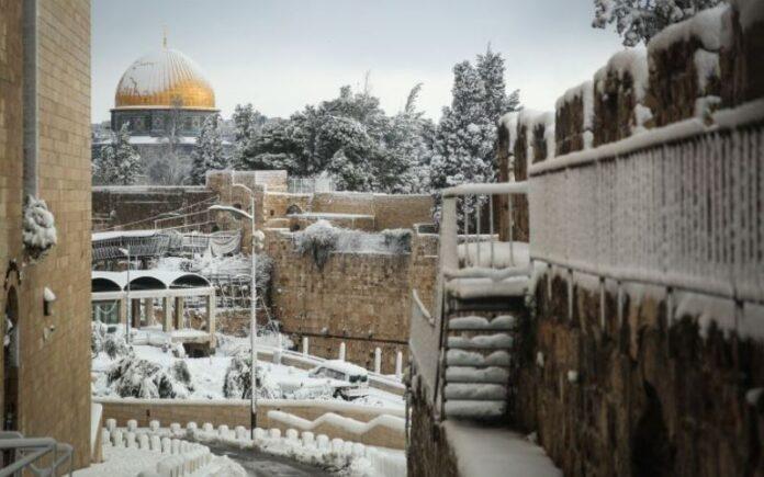 Se espera una tormenta de nieve sobre la ciudad santa de Jerusalén esta noche