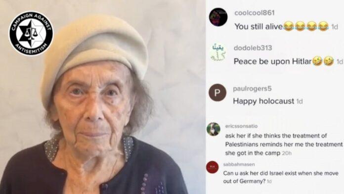 Sobreviviente del Holocausto desea en Tik Tok un Shabat Shalom y recibe spam con odio antisemita