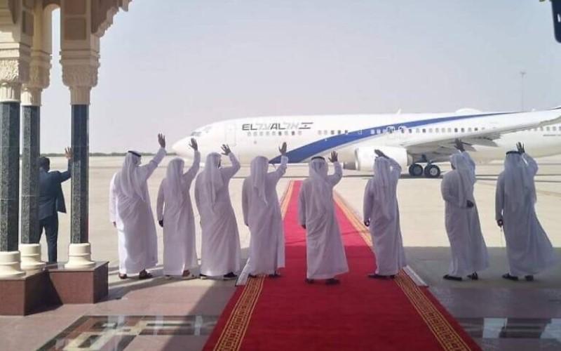 Israel en contacto con la mayoría de los países árabes, incluido Irak